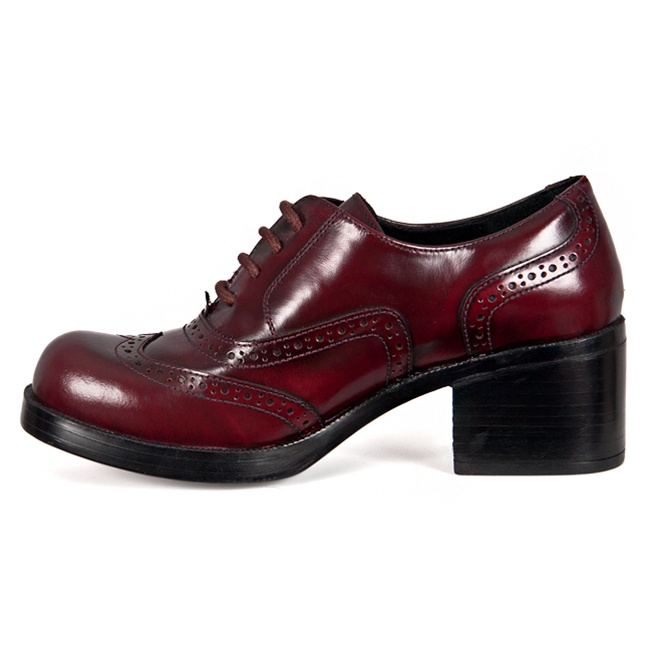Burgundy Leather Lace Up Oxford Shoes Sinistersoles Com