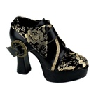 EXOTICA-60 Gold Buckle Platform Pumps