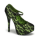 TEEZE-07 Lime Green Mary Jane Heels