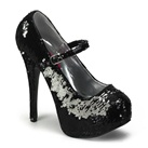 TEEZE-07 Sequin Mary Jane Heels