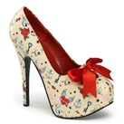 TEEZE-12-3 Tattoo Print Platform Pumps