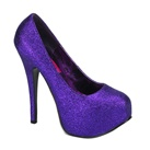 TEEZE-31 Purple Glitter Platform Pumps