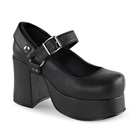 Demonia ABBEY-02 Black High Heel Gothic Platform Shoes