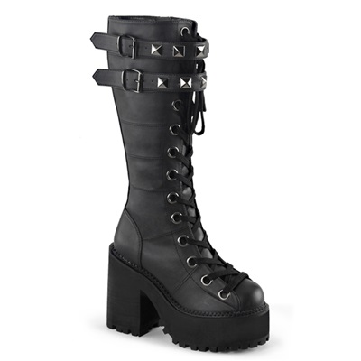 ASSAULT-202 Knee High Platform Boots