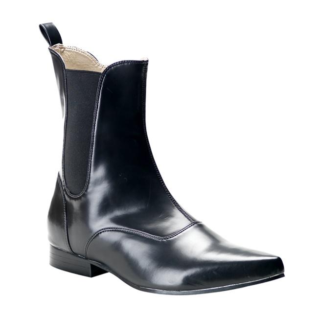 Brogue 02 Black Ankle Boots Demonia Shoes