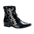 BROGUE-07 Demonia BAT Buckle Gothic Boots