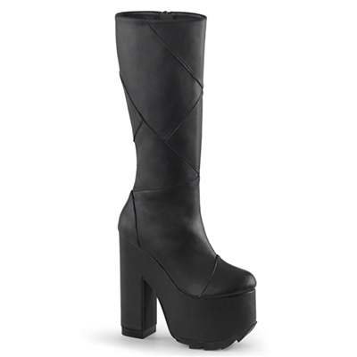 Demonia CRAMPS-201 Knee High Platform Boots