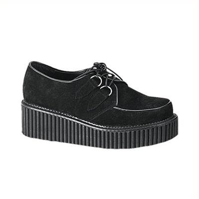 CREEPER-101 Black Suede Creeper Shoes