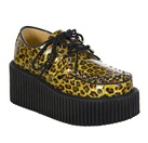 CREEPER-208 Gold Cheetah Creeper Shoes