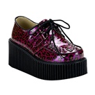 CREEPER-208 Purple Cheetah Creeper Shoes
