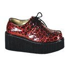 CREEPER-208 Cheetah Print Creeper Shoes