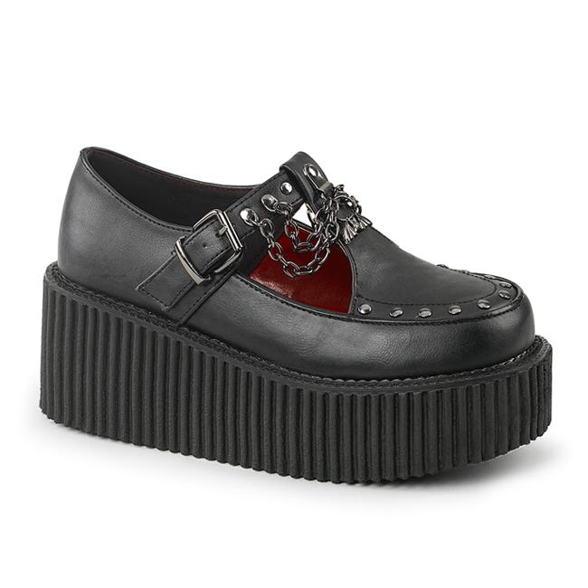demonia creeper215 gothic platform creeper shoes
