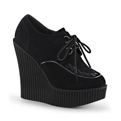 CREEPER-302 Vegan Suede Wedge Creepers
