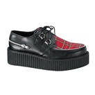 CREEPER-406 Black Leather Creepers