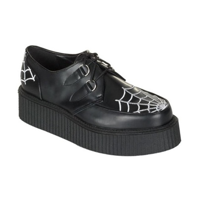 CREEPER-426 Gothic Black Creeper Shoes