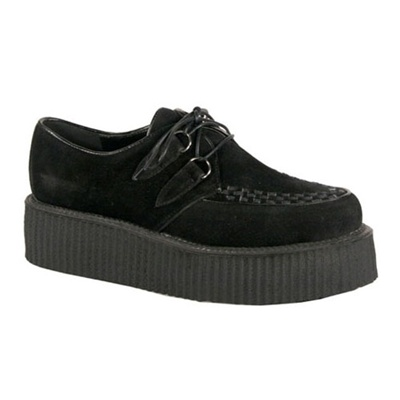 V-CREEPER-502 Black Veggie Suede Creepers