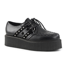 V-CREEPER-538 Black Star Creeper Shoes