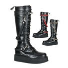 V-CREEPER-588 Black Straps Creeper Boots