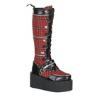 CREEPER-812 Knee High Creeper Boots