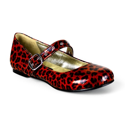 DAISY-04 Pearlized Cheetah Mary Jane Flats