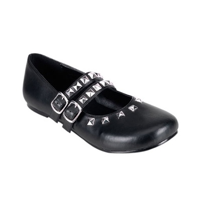 DAISY-13 Black Mary Jane Flats