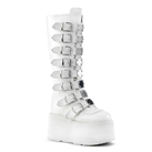 DAMNED-318 White Platform Boots