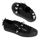DEVIANT-04 Spiked Low Top Sneakers
