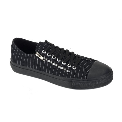 DEVIANT-06 Low Top Sneakers w/Zipper