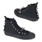 DEVIANT-104 Black High Top Sneakers