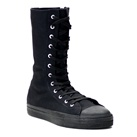 DEVIANT-201 Black High Top Gothic Sneaker Boots