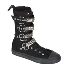 DEVIANT-203 Men's Gothic High Top Buckle Sneaker Boot
