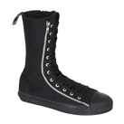 Demonia DEVIANT-206 Black Canvas Sneaker Boot