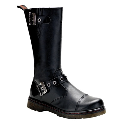 DISORDER-304 Black Motorcycle Boots