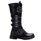 DISORDER-402 Demonia 3-Strap Combat Boots