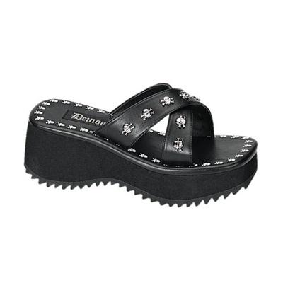 FLIP-05 Black Skull Sandals