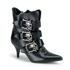 FURY-06 Skull Buckle Ankle Boots