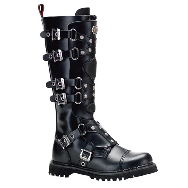 Demonia Gravel 22 6 Buckle Combat Boots Demonia Shoes