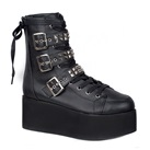 GRIP-101 Studded Lace-up Platform Boots