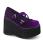 KERA-10 Purple Velvet Platform Shoes