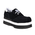 KICKER-22 Black Skull Platform Sneakers