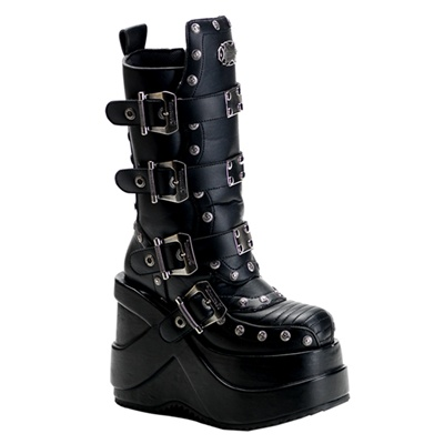 OUTLAW-201 Cyber Buckle Platform Boots
