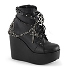POISON-101 Studded Wedge Ankle Boot