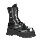 Demonia POLE CLIMBER-10 Leather Combat Boots