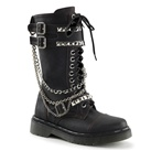 Womens RIVAL-315 Studded Combat Boots
