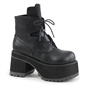 RANGER-102 Black Lace-up Platform Boots