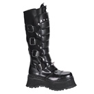 RAVAGE-II Steel Toe Demonia Leather Platform Boots