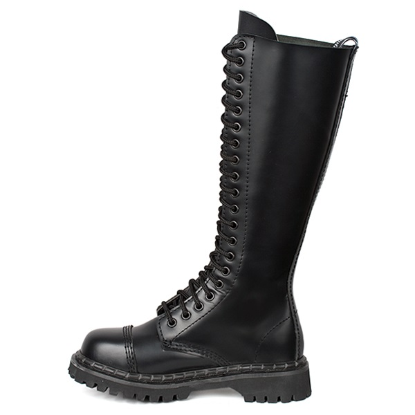 demonia rocky 20 knee high 20 eye combat boots demonia shoes