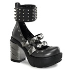 SINISTER-62 Spiked Mary Jane Shoes