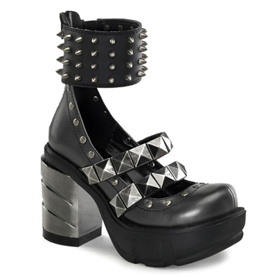 At Sinister Soles, you'll find a large inventory of boots, platforms, and sneakers in gothic, steampunk, biker, creepers, military, and steel-toe styles. Their women's collection features Lolita pumps, Victorian boots, and studded heels.