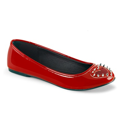 STAR-24 Studded Red Heart Flats